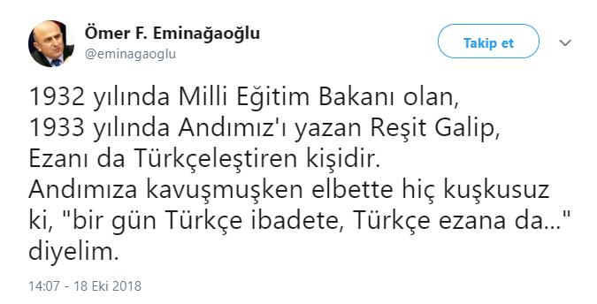 eminağaoğlu türkçe ezan ile ilgili görsel sonucu
