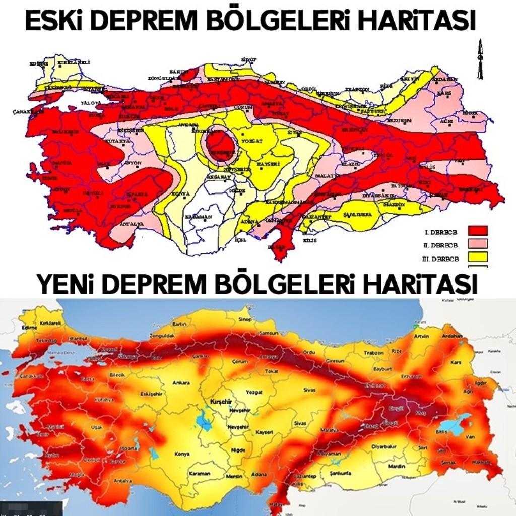 Deprem riski en yüksek ve en az olan iller açıklandı! ile ilgili görsel sonucu