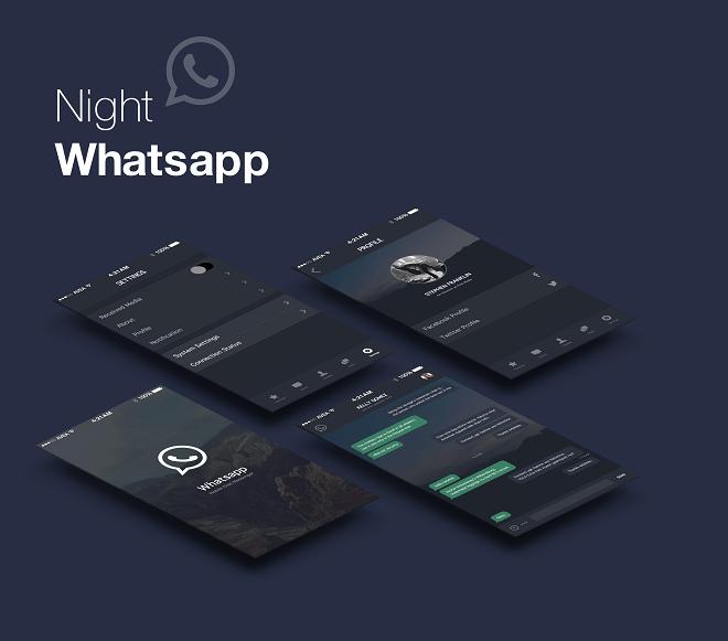 WhatsApp web karanlık mod