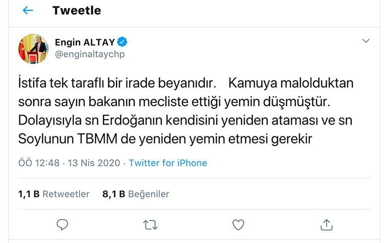 CHP'li Engin Altay yine fena çuvalladı! Süleyman Soylu hakkındaki ...