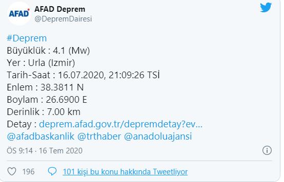 1594923670 74cadf İzmir'de korkutan deprem 1