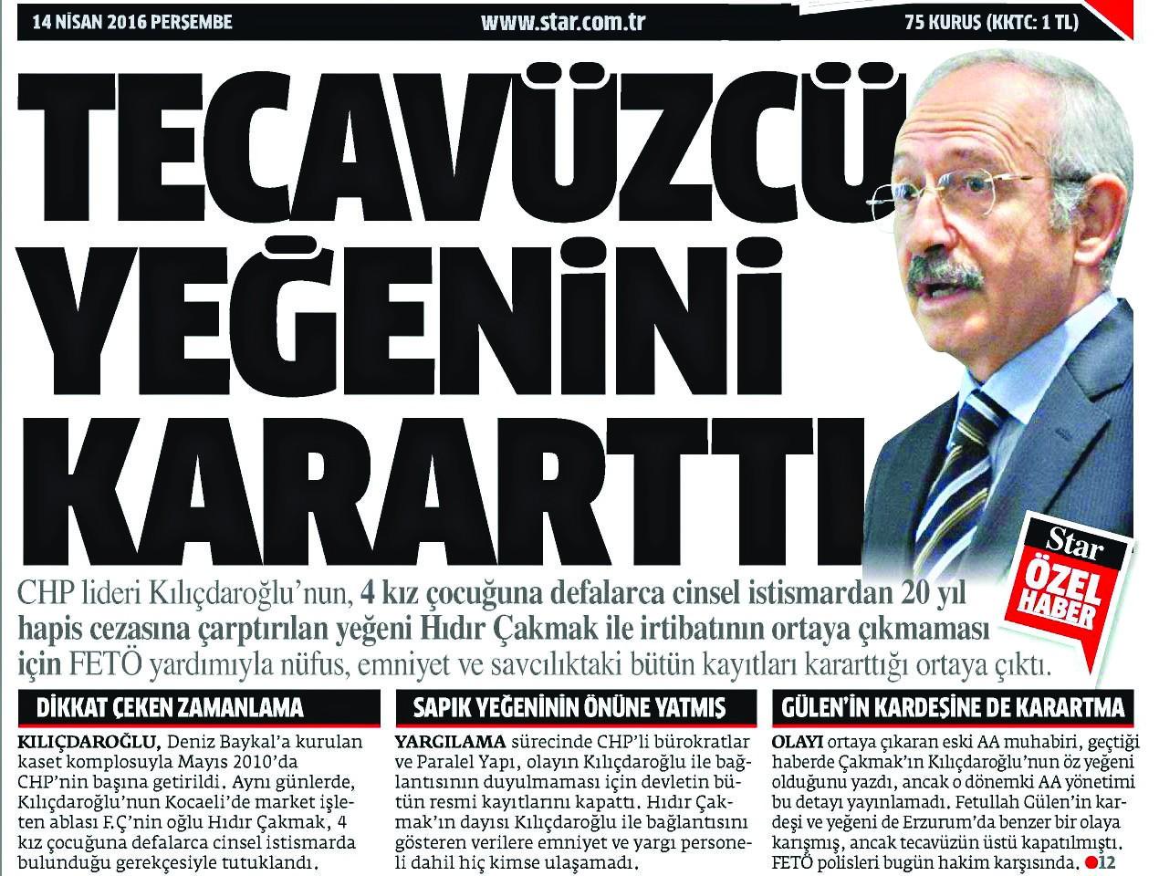 CHP nerede tecavüz orada - Yeni Akit Gazetesi - Haber Ofisi