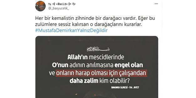 Mustafa Demirkan Hoca'ya destek yağıyor