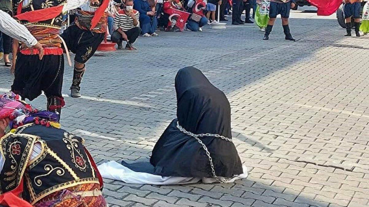 Kurtuluş mücadelesine leke düşüren görüntü! Çarşaf rezaletinden sonra 'dansöz' skandalı patlak verdi