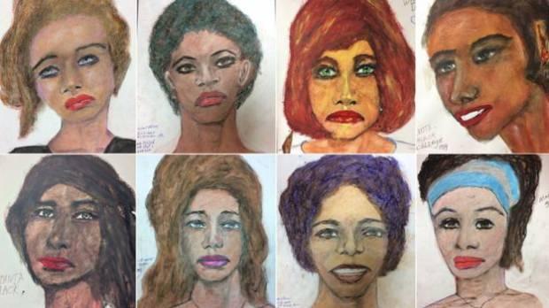 FBI, Samuel Little'ın öldürdüğü kadınlara ait çizimlerini yayımlamıştı...