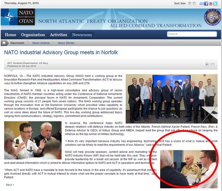 NATO'nun resmi internet sitesinde, darbeci general Mustafa Zeki Uğurlu'nun darbe girişiminden 9 gün sonra NATO toplantısına katıldığı ortaya çıktı.