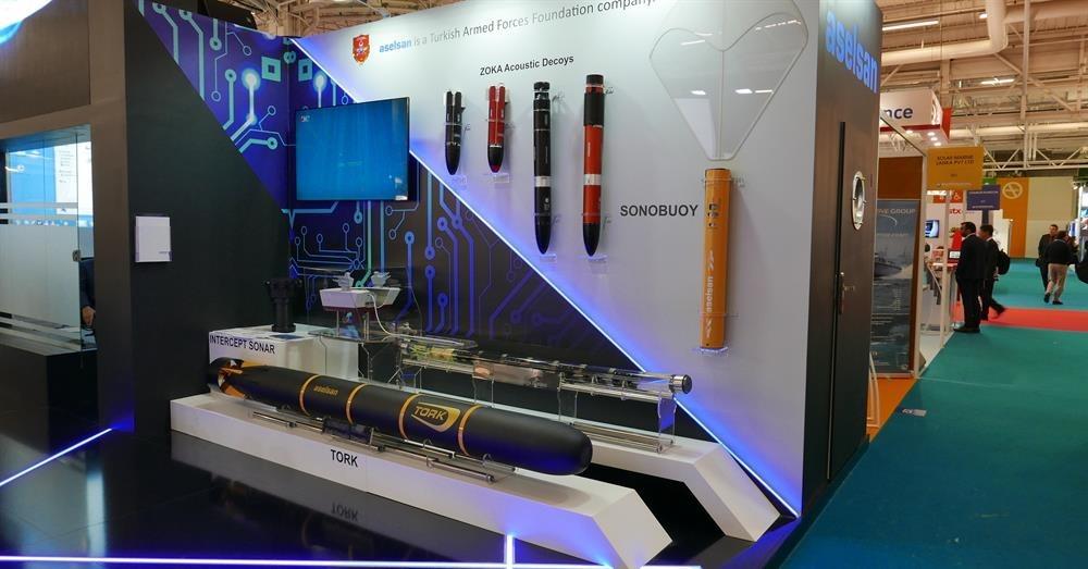 Denizaltı savunma harbinin önemli unsurlarından biri olan Sonoboy Paris'teki EURONAVAL 2016 Fuarı'nda büyük ilgi gördü.