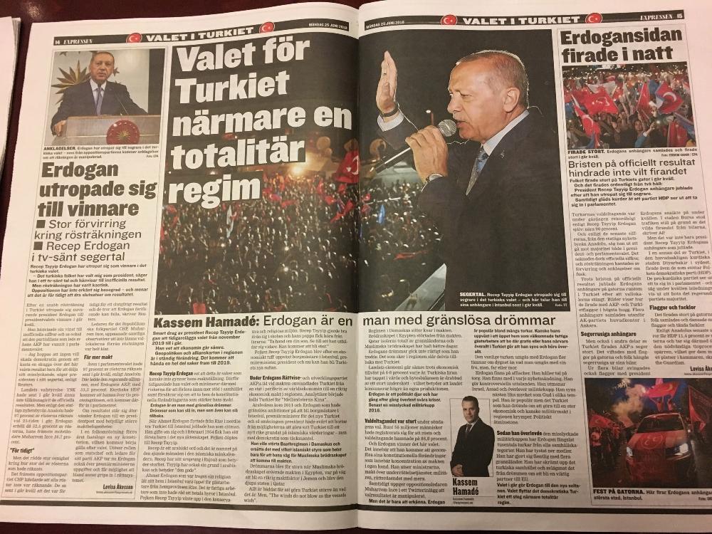 İsveç gazeteleri Erdoğan'ı konuşuyor