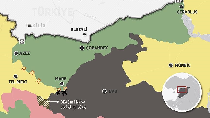 ÖSO'ya karşı cepheyi genişletmeye çalışan PYD-DEAŞ arasında yeni bir uzlaşının sağlandığı ve DEAŞ'ın PYD'ye yeni topraklar vaat ettiği belirtiliyor.
