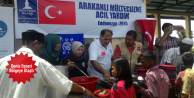 Arakanlılara yardım dağıtımına başlandı