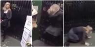 Asansörde arıların saldırısına uğradı! (VİDEO)