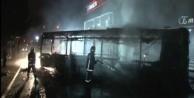 Ataşehir'de teröristler otobüs yaktı