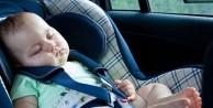 Araba koltuğunda uyutmayın
