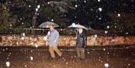 Bilecik'e kar yağdı! Vatandaş şaşırdı