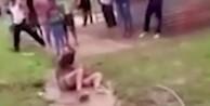 Boynuna ip bağlayıp linç ettiler (VİDEO)