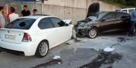 CHP'li başkanın makam aracı kaza yaptı