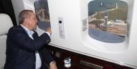 Cumhurbaşkanı Erdoğan'dan havadan denetim