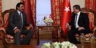 Davutoğlu, Katar Emiri'ni kabul etti