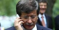 Davutoğlu'ndan tebrik telefonu