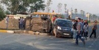 Kamyonet otomobile çarptı: 1 ölü  yaralı
