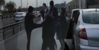 E-5'te 'aile boyu' yol kavgası!../VİDEO