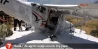 Eğitim uçağı düştü zorunlu iniş yaptı