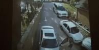 El frenini çekmedi, arabadan dayak yedi VİDEO