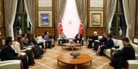 Erdoğan o isimlerle bir araya geldi