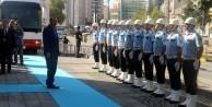 Erdoğan tören mangası ile karşılandı