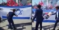 Gençler Tekbirlerle İsrail bayrağı yaktı!