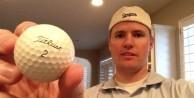 Golf topunun içinden bakın ne çıktı!