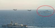 Görüntüler az önce geldi… Jetler ve savaş gemileri Rus filosunu kıskaca aldı!