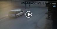 Hafriyat kamyonu terörü kamerada