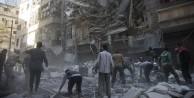Halep'te kalan son hastanelerden biri varil bombasıyla vuruldu