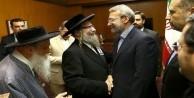 İran Meclis Başkanı Yahudi Hahamları kabul etti!