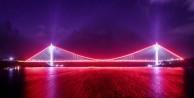 İşte Yavuz Sultan Selim Köprüsü'nün ilk ışıkları