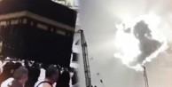 Kabe'de şaşkınlık veren görüntü! - VİDEO