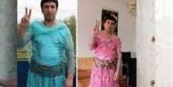 Kadın kıyafetli YPG'li teröristler Peşmerge'ye...