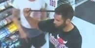 Kafasına levye saplandı! (VİDEO)
