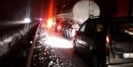 Kayan TIR yolu kapattı, 15 kilometrelik araç kuyruğu oluştu!