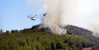 Kumluca'daki orman yangını yeniden başladı