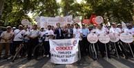 Memurlar, Hakları için Balıkesir'den Ankara'ya 800 kilometre pedal çevirdi
