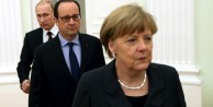 Merkel, Hollande ve Putin ile görüştü