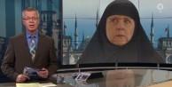 Merkel'e çarşaf giydirdiler!