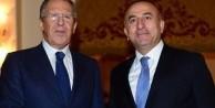 Mevlüt Çavuşoğlu Lavrov ile Suriye'yi görüştü