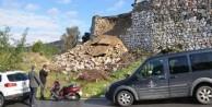Muğla'da hastanenin istinat duvarı çöktü