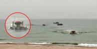 Öfkeli yanıtı resmi hesaptan duyurdular… Yüzen tanklar kıyıya çıktı!