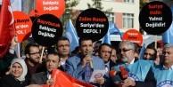 Rusya Büyükelçiliği önünde zulme tepki