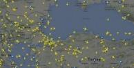 Saldırının ardından hava trafiği radara böyle yansıdı