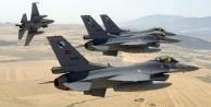 Sınırda 10 adet F-16 havalandı